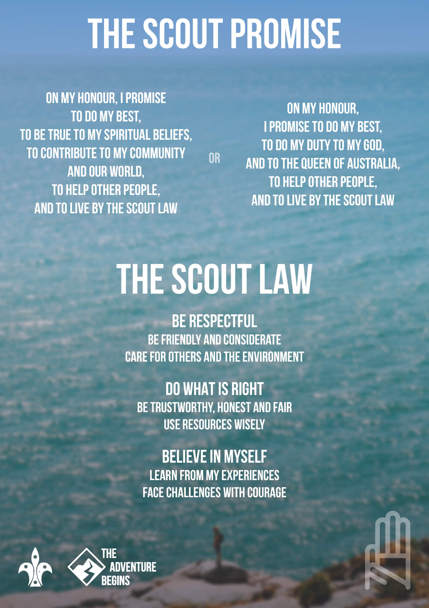 photograph regarding Cub Scout Oath and Law Printable titled The Experience Commences - Warranty and Legislation Scouts Australia