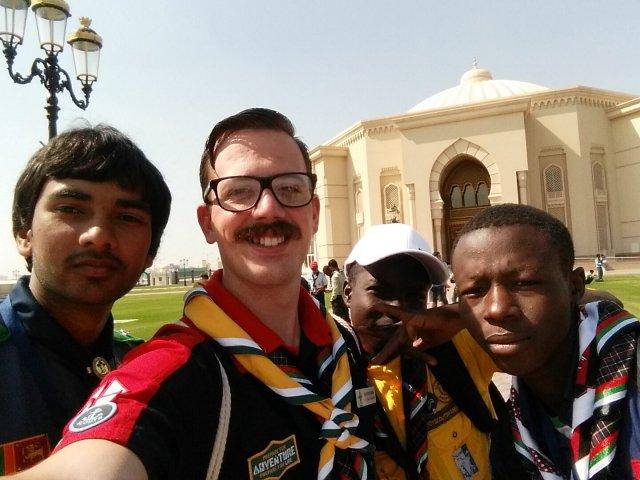 The Sharjah 8th International Scout Gathering, United Arab Emirates, David Uber