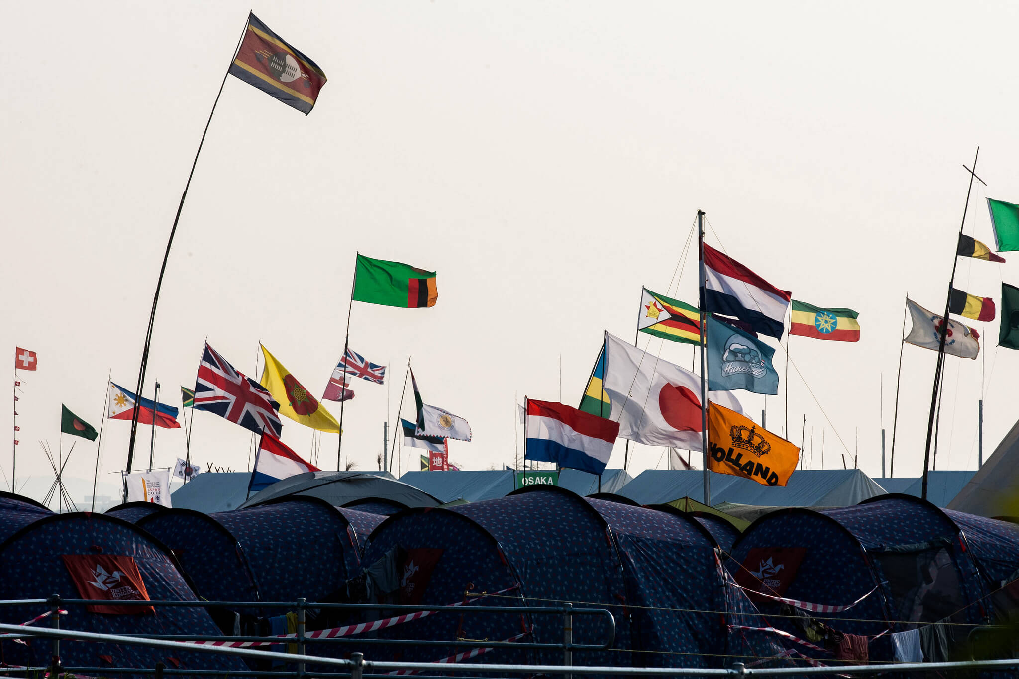 International Campsite Flags Tents