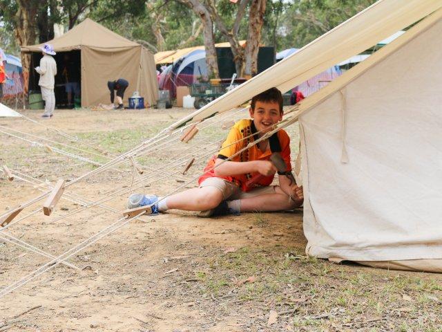 Jamboree Camping Set Up Cottage Tent OAS Badges