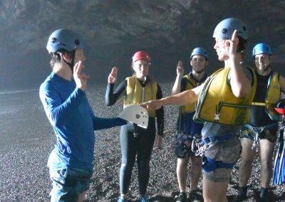 Pinny Sea Cave Ceremony Investiture