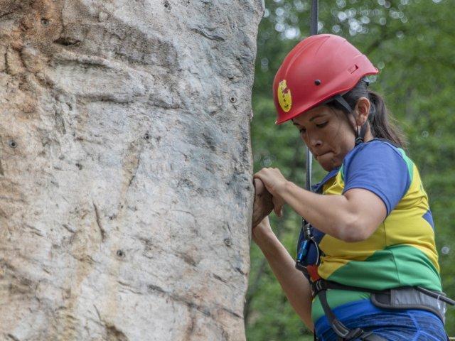 Scout Method at World Scout Jamboree Rock Climbing