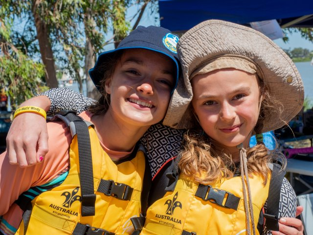 Two Female Scouts Lifejackets Summer AJ2019