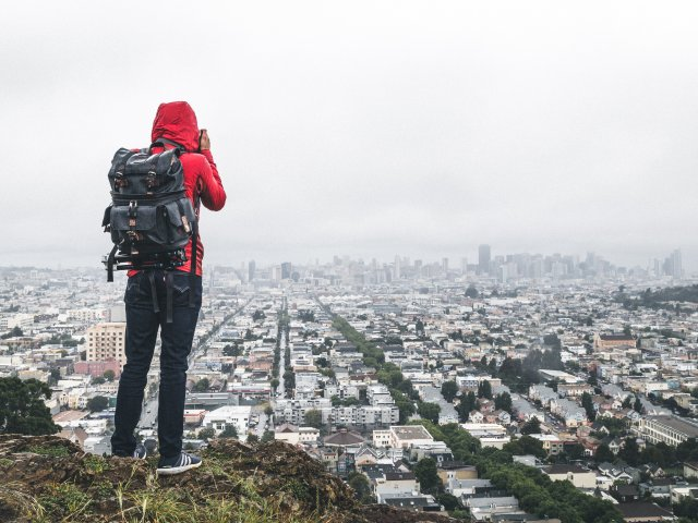 Love Backpacker Looking Over City SISEP 2020/2021 Applications