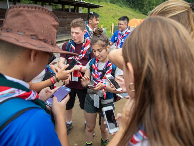 Scouts on Mobile Phones Digital System Two Bulls