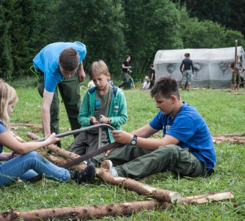 European Jamboree Scouts Woodwork