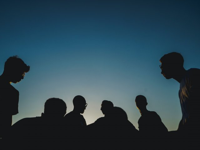 Tips for Inclusion Group of Silhouetted Youth