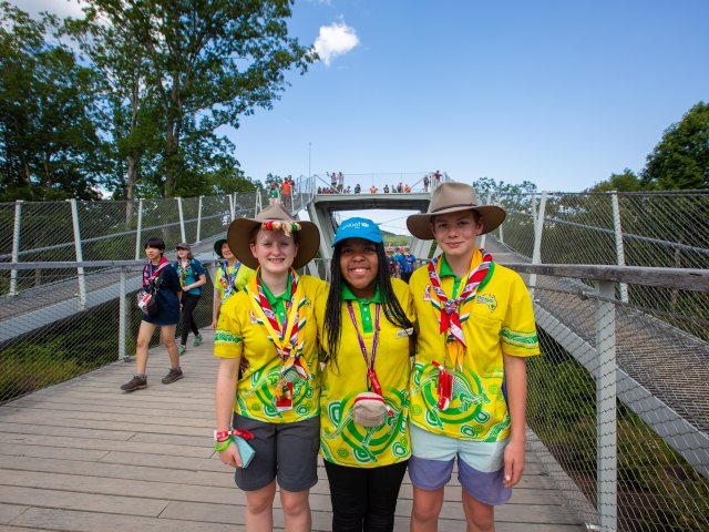 WSJ2023 Contingent Team Three Scouts