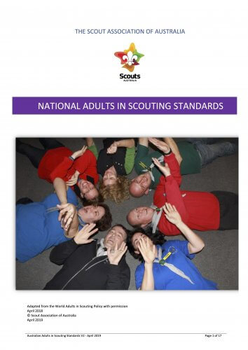 Adults in Scouting Standards Cover Page