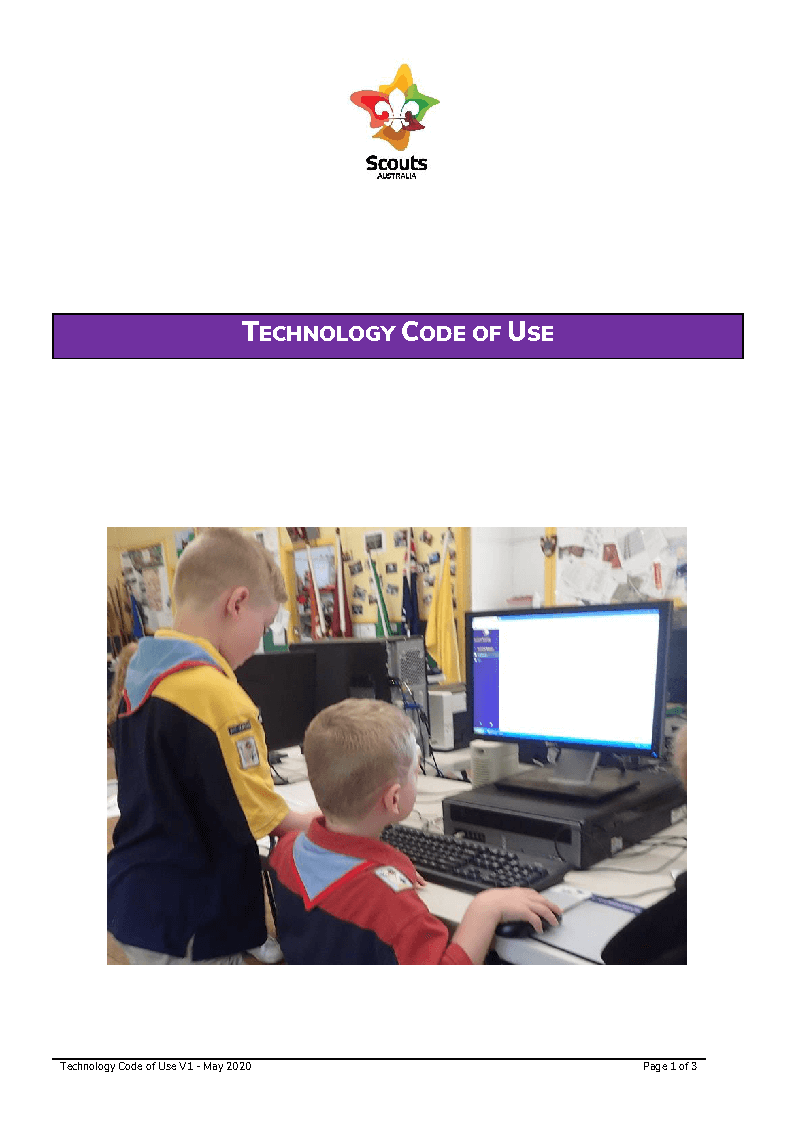 Technology Code of Use Cover Page