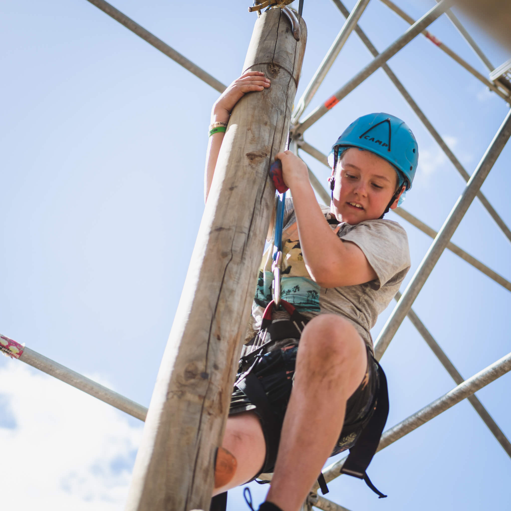 New Youth Program Case Study Get It Wrong Scout Climbing Obstacle