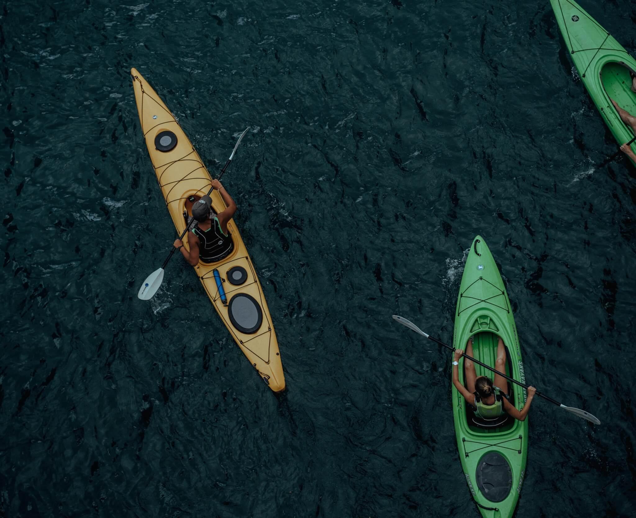 Adventurous Activities Summer School 2021 Kayakers