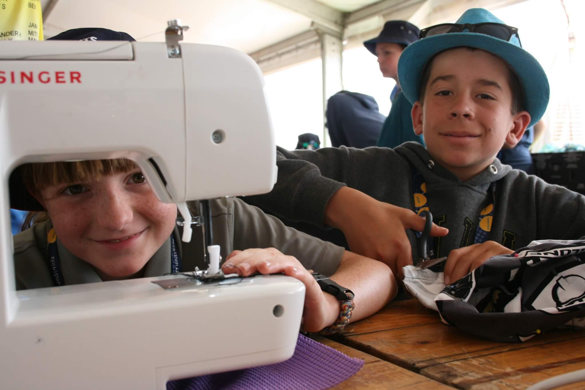 Scouts at AJ2019 Sewing Machine Jeremy