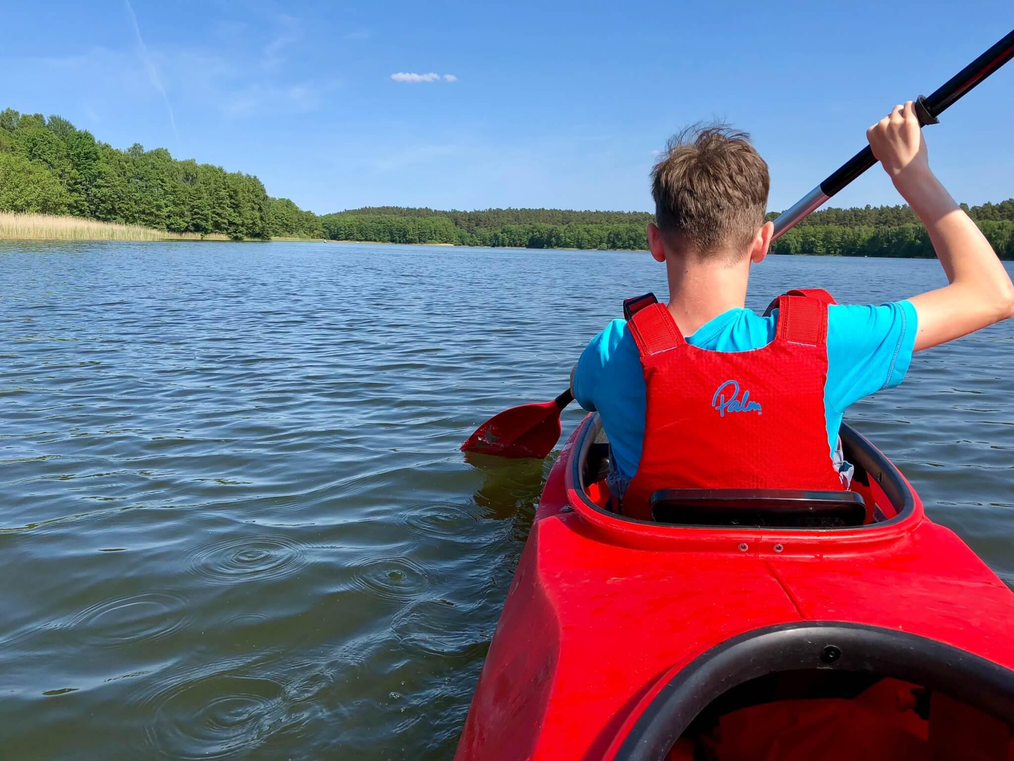 Scout in Canoe ANC Adventurous Activities Training Advertisement