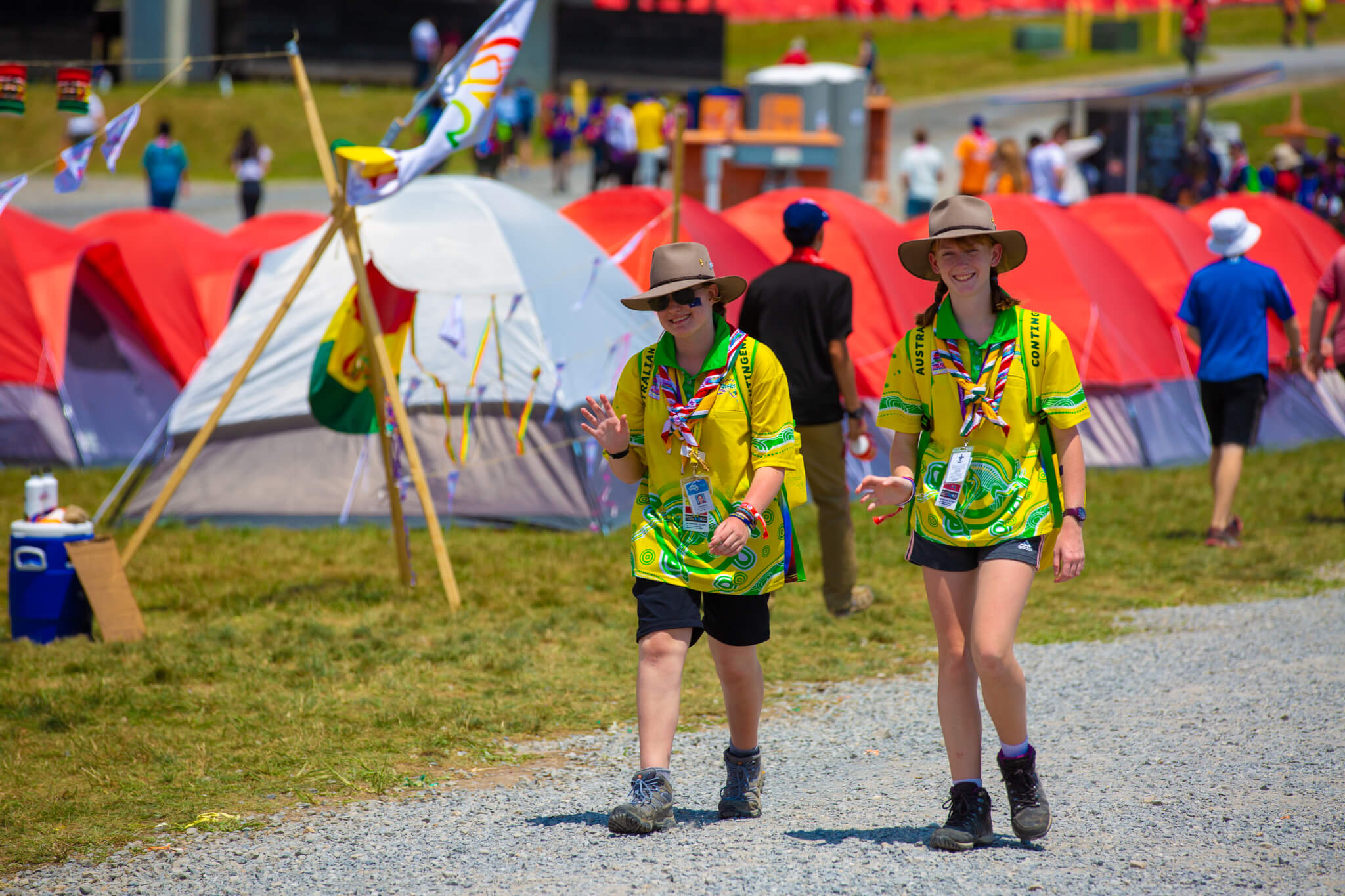 WSJ2023 Registrations Two Scouts Walking at Summit Bechtel Reserve 2019