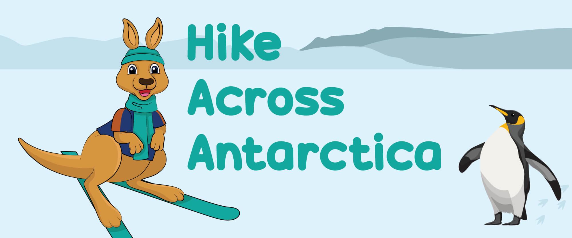 Hike Across Antarctica Banner